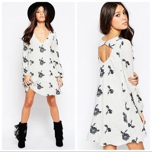 Free People Emma embroidered dress in Agave